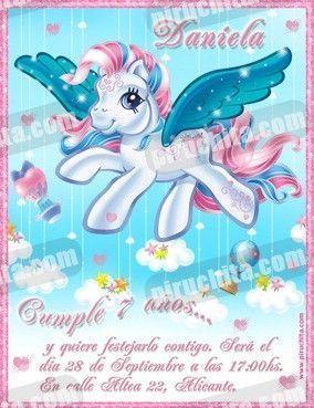 Invitación cumpleaños Mi Pequeño Pony #01-0