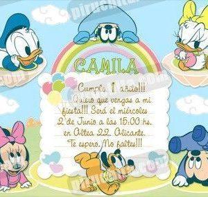 Invitación cumpleaños Mickey Baby #01-0
