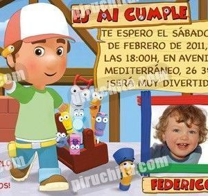 Invitación cumpleaños Manny Manitas #01-0