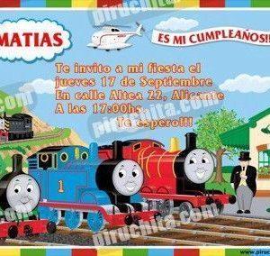 Invitación cumpleaños Thomas y sus amigos #02-0