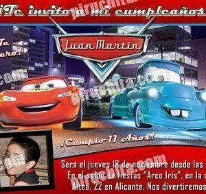 Invitación cumpleaños Cars #02-0