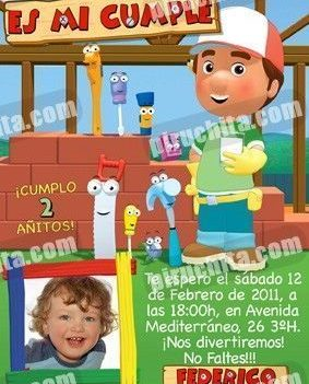 Invitación cumpleaños Manny Manitas #02-0