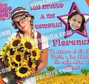 Invitación cumpleaños Patito Feo #02-0