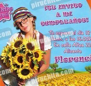 Invitación cumpleaños Patito Feo #03-0