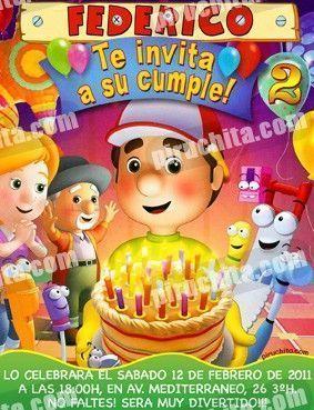 Invitación cumpleaños Manny Manitas #03-0