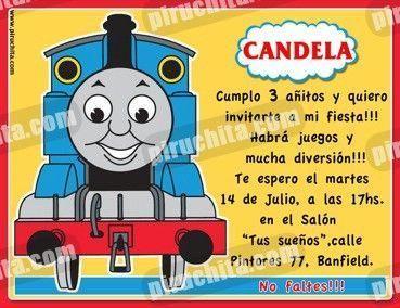 Invitación cumpleaños Thomas y sus amigos #04-0