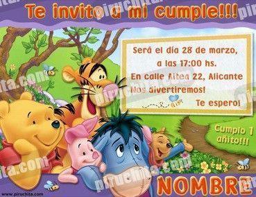 Invitación cumpleaños Winnie Pooh #04-0