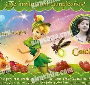 Invitación cumpleaños Campanilla #04-0