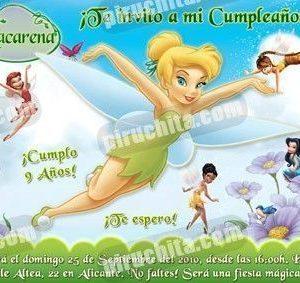 Invitación cumpleaños Campanilla #05-0
