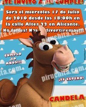 Invitación cumpleaños Toy Story #05-0