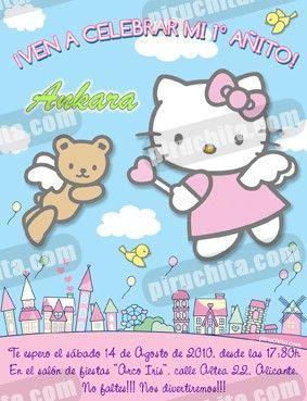 Invitación cumpleaños Hello Kitty #05-0