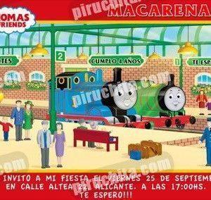 Invitación cumpleaños Thomas y sus amigos #05-0