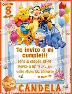 Invitación cumpleaños Winnie Pooh #06-0