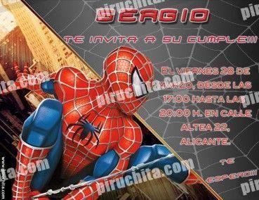 Invitación cumpleaños Spiderman #06-0
