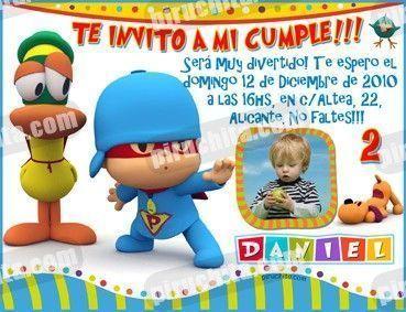 Invitación cumpleaños Pocoyo #06-0