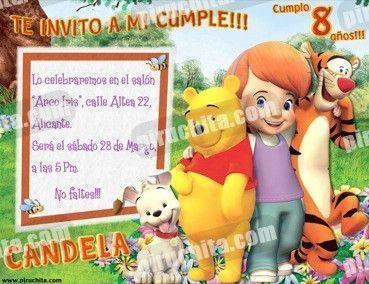 Invitación cumpleaños Winnie Pooh #07-0