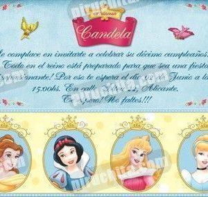 Invitación cumpleaños Princesas Disney #07-0