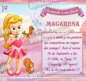 Invitación cumpleaños Aurora Baby-0