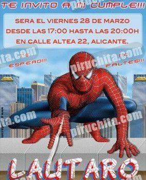 Invitación cumpleaños Spiderman #07-0