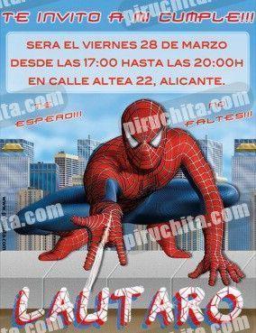 Invitación cumpleaños Spiderman #03 | Digital Imprimible