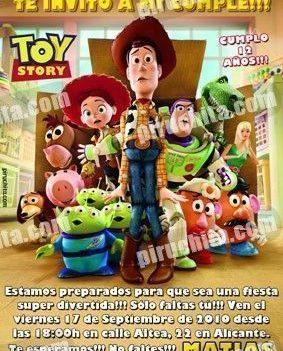 Invitación cumpleaños Toy Story #07-0