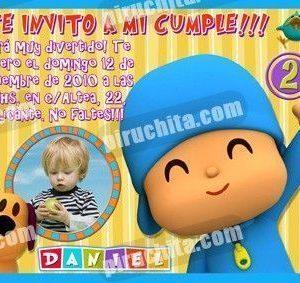 Invitación cumpleaños Pocoyo #07-0