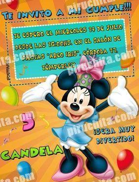 Invitación cumpleaños Mickey y sus amigos #08-0