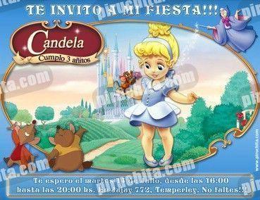 Invitación Cumpleaños Princesas Disney 10 Digital