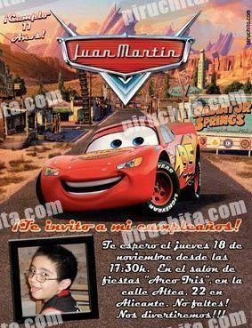 Invitación cumpleaños Cars #09-0