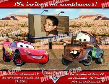 Invitación cumpleaños Cars #10-0