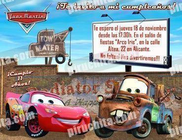 Invitación cumpleaños Cars #11-0
