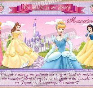 Invitación cumpleaños Princesas Disney #11-0