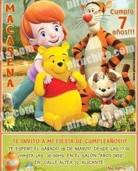Invitación cumpleaños Winnie Pooh #11-0
