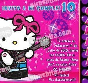 Invitación cumpleaños Hello Kitty #12-0