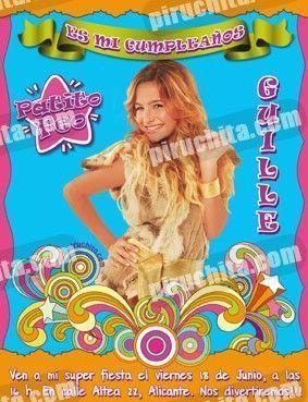 Invitación cumpleaños Patito Feo #12-0