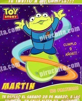 Invitación cumpleaños Toy Story #12-0