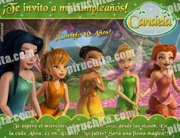 Invitación cumpleaños Campanilla #13-0