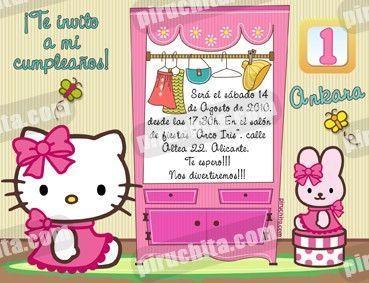 Invitación cumpleaños Hello Kitty #13-0