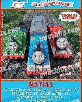 Invitación cumpleaños Thomas y sus amigos #13-0