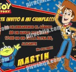 Invitación cumpleaños Toy Story #13-0