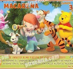 Invitación cumpleaños Winnie Pooh #13-0