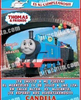 Invitación cumpleaños Thomas y sus amigos #14-0