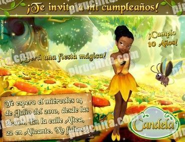 Invitación cumpleaños Campanilla #15-0