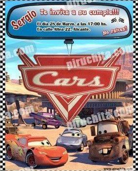 Invitación cumpleaños Cars #15-0