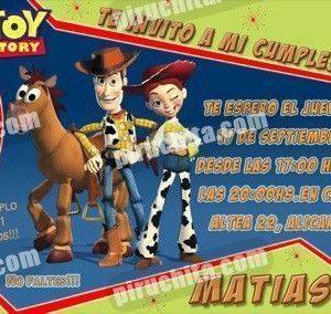 Invitación cumpleaños Toy Story #15-0