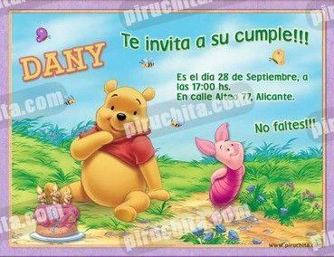 Invitación cumpleaños Winnie Pooh #15-0