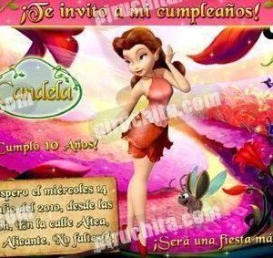 Invitación cumpleaños Campanilla #16-0
