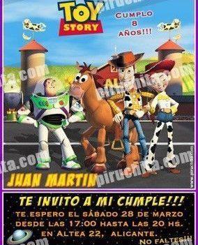 Invitación cumpleaños Toy Story #16-0