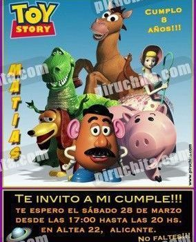 Invitación cumpleaños Toy Story #17-0