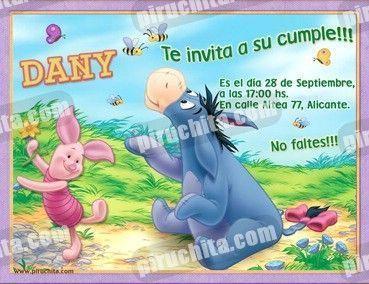 Invitación cumpleaños Winnie Pooh #17-0